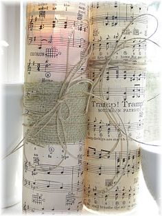 Could use sheet music for our wedding song or our ceremony music crafts 11 Sheet Music Craft Ideas - Color In My Piano Sheet Music Crafts, Old Sheet Music, Old Music, Vintage Sheet Music, Music Sheets, Music Music, Craft Wedding, Wedding Songs, Wedding Ideas