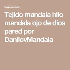 Tejido mandala hilo mandala ojo de dios pared por DanilovMandala