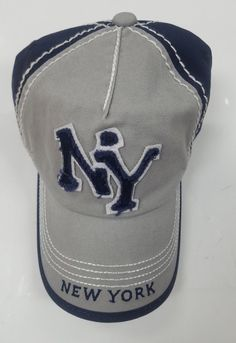 2f59a009190 Cotton Cap with NY Applicate hat 2 tone