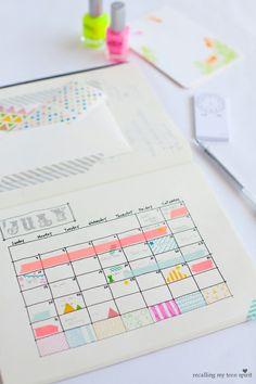 amazing calendar (washi tape!)