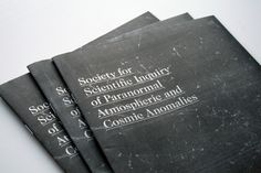 Society for Scientific Inquiry of Paranormal Atmospheric and Cosmic Anomalies Zine by Vanessa Lam on Little Paper Planes