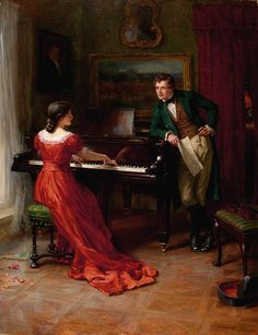 The Duet by George Sheridan Knowles  Signed and dated 1915