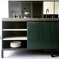werkblad groen gebrand PORFIER - Vincent Van Duysen. dada-kitchen (Molteni)