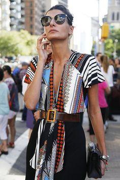 Giovanna Battaglia colorful outfit