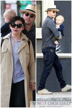 """Once Upon A Time"" stars Ginnifer Goodwin and Josh Dallas go shopping with their young son Oliver on April 10, 2015 in West Hollywood, California"