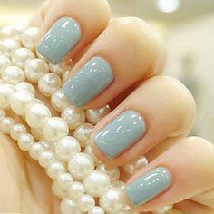 pale blue nail polish - about-face-and-fashion.tumblr.com