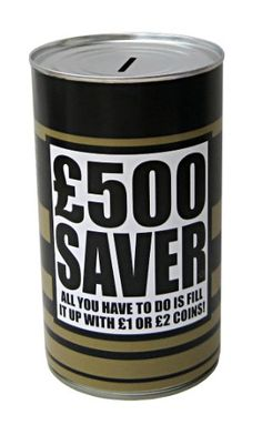 Save £500 Savings Tin « Buy Online from thegadgethut.co.uk