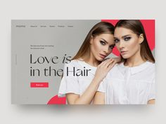 Hair Beauty Salon Concept by Оlga Pisareva