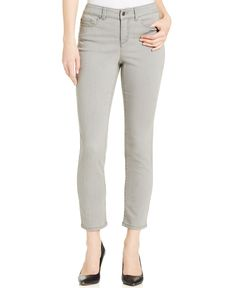 Charter Club Diane Tummy-Slimming Ankle Jeans, Pelican Gray Wash