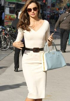 Creme Plain Belt Long Sleeve Midi Dress- see if they ship to Canada.