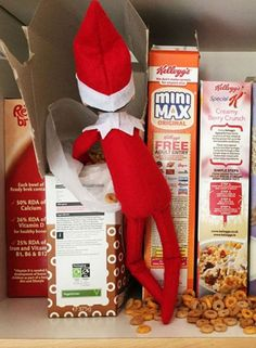 Creating some gentle mischief is part of your Christmas elf's charm - have fun coming up with creative ideas for tricks your elf can play on the kids! Simple ideas include dropping green food colouring into milk, turning the toilet water glittery, setting up a 'zip wire' for the elves to play on, rearranging things, or spilling cereal on the shelf.