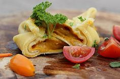 Tortellini gevuld met wortelsaus