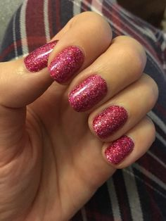 Gorgeous Lecente glitter nails!