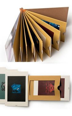 Portfolio / Papiertaschen mit Fester / Karte zum Heraus Ziehen / Nathan Hinz