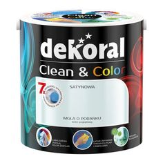 Satynowa farba lateksowa Dekoral Clean & Color szary canvas l Boy Room, Coffee Cans, All The Colors, Cleaning, Green, Design, Canoe, Google