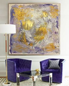"15 mentions J'aime, 1 commentaires - Art | Inspiration (@vanessapeka) sur Instagram : ""‍ ""abstract gold brushes"", commissioned artwork: acrylic paint on canvas 1,50x1,50m ---- #art…"""