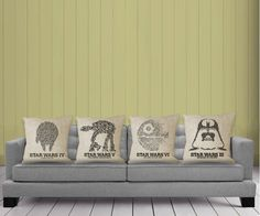 Four pillowcases fit for any Jedi's couch.