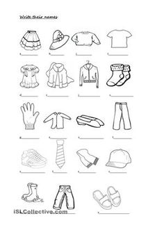 This ws contains clothes / colours / have got exercises. - ESL worksheets