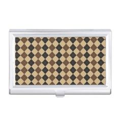 Camo business card holder use my paper by law pinterest brown plaid business card holder colourmoves