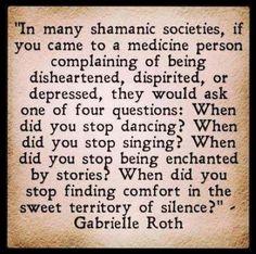 Truly inspirational words by Gabrielle Roth. #5Rhythms #consciousdance