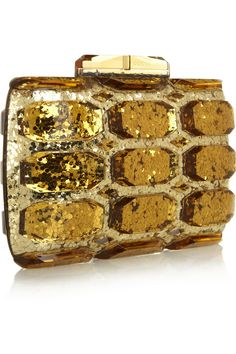 Gucci | Aristographic glittered plexiglass clutch | NET-A-PORTER.COM