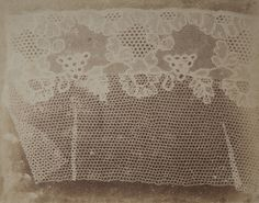 william henry fox talbot, lace, c. 1842