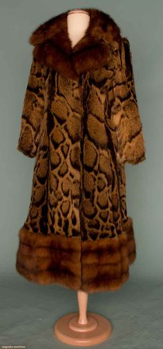 Galanos Fur Coat, C. 1970, Augusta Auctions, November 14, 2012 NEW YORK CITY, Lot 353