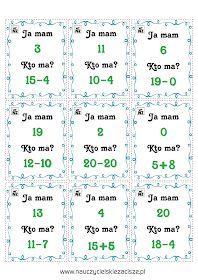 Gry matematyczne Ja mam Kto ma? Domino Memory Math 2, Educational Crafts, Travel With Kids, Memories, Therapy, Polish, Memoirs, Visual Arts, Remember This