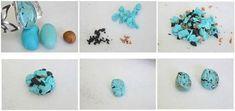 Tuto fimo : Effet pierre turquoise