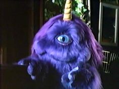 This, to my friends who do not know, is a one eyed one horned flying purple people eater...love it