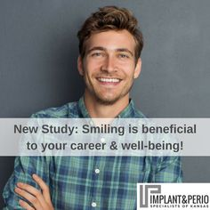 New research is showing how many ways smiling is beneficial to your career and well-being. Find out more here: https://www.fastcompany.com/3041438/how-smiling-changes-your-brain#utm_sguid=188045,893cb662-8cf9-703e-fece-af03e50c9eaa A beautiful smile and optimal oral health starts with us! Call Implant & Perio Specialists at (316) 683-2525 to book your consultation today.