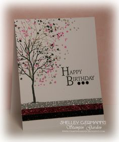 Stampin' Up! Branch Out, and lots of glitter on this one!