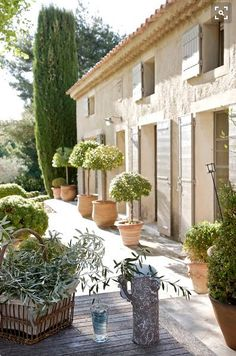 External shutters and topiaries