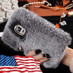 NEW Case for Iphone 7 Plus / 7S Plus / 8 Plus,Winter Soft Warm Cute Fluffy Furry #UnbrandedGeneric