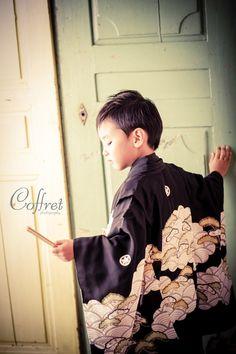 Japanese kimono little boy.