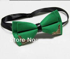 Men's Butterfly Bow Tie Butterflies Cravat Green