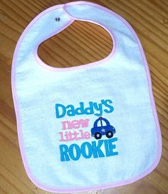 Police Officer Baby Girl Bib  Daddy's new by LittleTexasBabes, $12.00