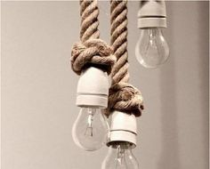 awesome rope chandelier...where to put it...