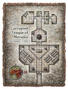 Corrupted Temple of Moradin Battle Map