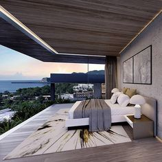 Modern bedroom with a view of Ibiza, Spain What do you think? Doble talk if you'd live here! Tag an architecture lover. Designed by @ saota.