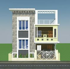 Normal House Front Elevation Designs Single Floor is part of Front elevation designs - 3 Storey House Design, Duplex House Design, Duplex House Plans, House Front Design, Small House Design, Modern House Design, Independent House, Big Modern Houses, Modern House Plans
