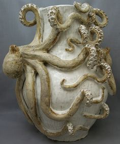 Octopus Vase (Giant Double) Ceramic Sculpture