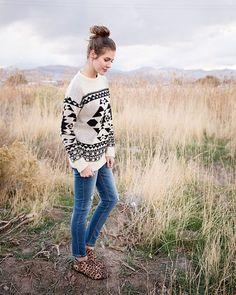 Jason Tribal Jacquard Sweater
