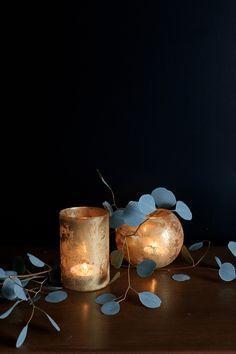 DIY Faux Mercury Glass Vases