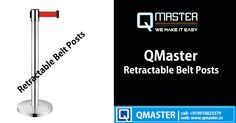 QMaster Retractable Belt Posts