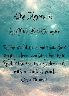 The Mermaid by Alford Lord Tennyson Mermaid Cove, Mermaid Lagoon, Mermaid Tails, Real Mermaids, Mermaids And Mermen, Mermaid Quotes, Mermaid Pictures, Beach Pictures, Merfolk