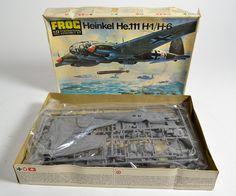 German WW 2 Froc 1:72 Heinkel H1H6 WW2 Model Kit Int Assembly Set Vintage in Box