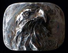 American Eagle belt buckle by Marcela Ganly Hand Engraving, Belt Buckles, Sculpture Art, Jewelery, Eagle, Bronze, American, Jewelry, Jewels