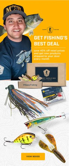 Mystery Tackle Box is a fun and affordable way to discover new fishing products every month. Our subscription plans introduce beginner and expert anglers alike to new fishing lures and tackle, and the best way to use them. Happy fishing!