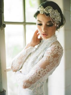 The headband is atrocious but the dress is to die for!